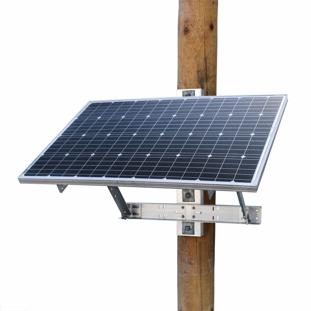 Power Supplies - OFF-GRID 120 Watt 24V Solar Power System - Bracket Front